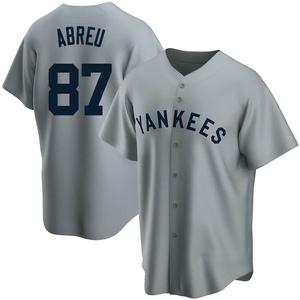 Men's New York Yankees Albert Abreu Replica Gray Road Cooperstown Collection Jersey