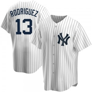 Men's New York Yankees Alex Rodriguez Replica White Home Jersey