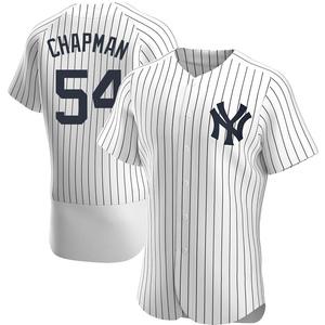 Men's New York Yankees Aroldis Chapman Authentic White Home Jersey