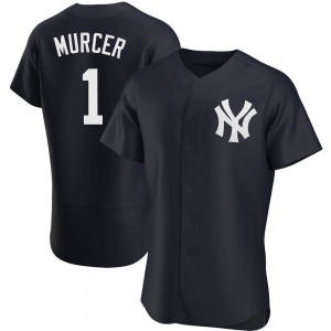 Men's New York Yankees Bobby Murcer Authentic Navy Alternate Jersey