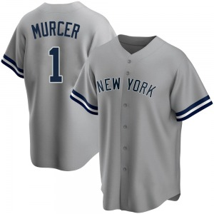 Men's New York Yankees Bobby Murcer Replica Gray Road Name Jersey
