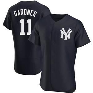 Men's New York Yankees Brett Gardner Authentic Navy Alternate Jersey