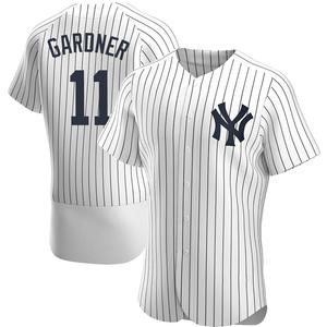 Men's New York Yankees Brett Gardner Authentic White Home Jersey