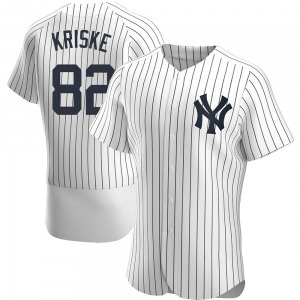 Men's New York Yankees Brooks Kriske Authentic White Home Jersey