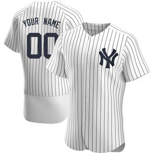 Men's New York Yankees Custom Authentic White Home Jersey