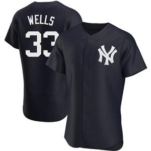 Men's New York Yankees David Wells Authentic Navy Alternate Jersey