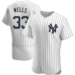 Men's New York Yankees David Wells Authentic White Home Jersey