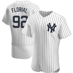 Men's New York Yankees Estevan Florial Authentic White Home Jersey