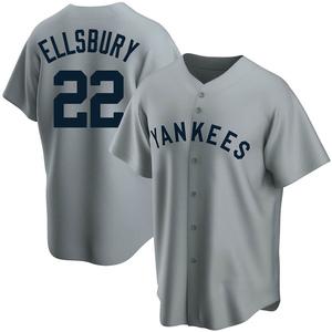 Men's New York Yankees Jacoby Ellsbury Replica Gray Road Cooperstown Collection Jersey
