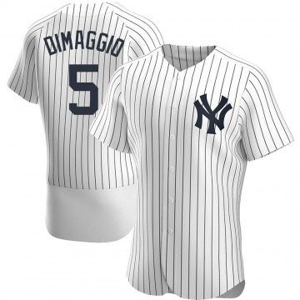 Men's New York Yankees Joe DiMaggio Authentic White Home Jersey