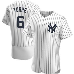 Men's New York Yankees Joe Torre Authentic White Home Jersey