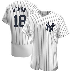 Men's New York Yankees Johnny Damon Authentic White Home Jersey