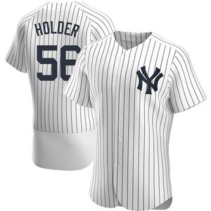 Men's New York Yankees Jonathan Holder Authentic White Home Jersey