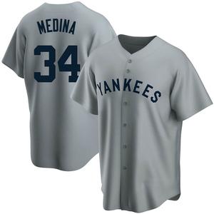 Men's New York Yankees Luis Medina Replica Gray Road Cooperstown Collection Jersey