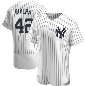 Men's New York Yankees Mariano Rivera Authentic White Home Jersey