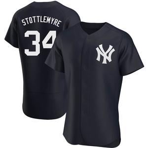 Men's New York Yankees Mel Stottlemyre Authentic Navy Alternate Jersey