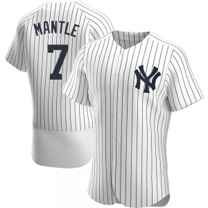 Men's New York Yankees Mickey Mantle Authentic White Home Jersey