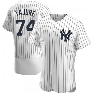 Men's New York Yankees Miguel Yajure Authentic White Home Jersey