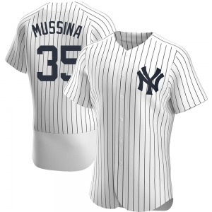 Men's New York Yankees Mike Mussina Authentic White Home Jersey