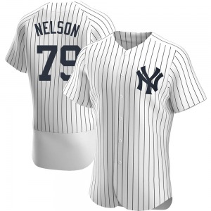 Men's New York Yankees Nick Nelson Authentic White Home Jersey
