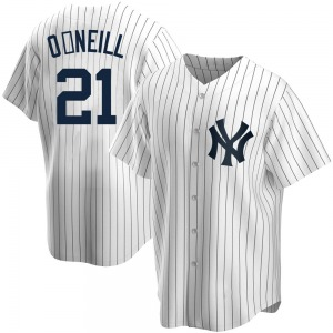 Men's New York Yankees Paul O'Neill Replica White Home Jersey