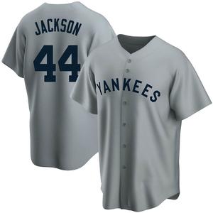 Men's New York Yankees Reggie Jackson Replica Gray Road Cooperstown Collection Jersey