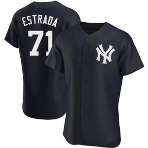 Men's New York Yankees Thairo Estrada Authentic Navy Alternate Jersey