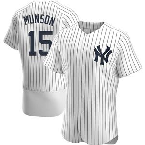 Men's New York Yankees Thurman Munson Authentic White Home Jersey