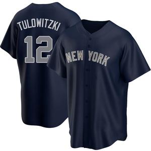 Men's New York Yankees Troy Tulowitzki Replica Navy Alternate Jersey