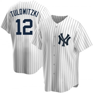 Men's New York Yankees Troy Tulowitzki Replica White Home Jersey