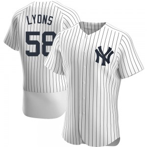 Men's New York Yankees Tyler Lyons Authentic White Home Jersey
