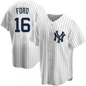 Men's New York Yankees Whitey Ford Replica White Home Jersey