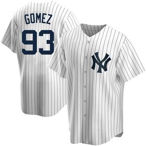 Men's New York Yankees Yoendrys Gomez Replica White Home Jersey