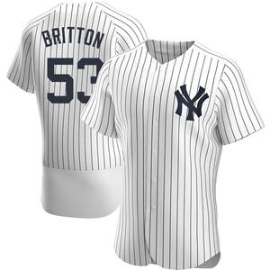 Men's New York Yankees Zack Britton Authentic White Home Jersey