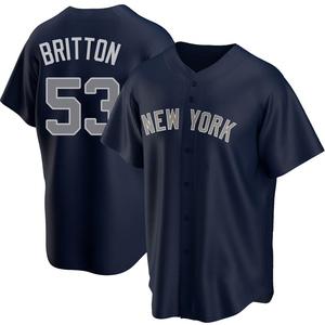 Men's New York Yankees Zack Britton Replica Navy Alternate Jersey