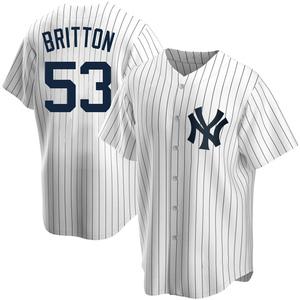 Men's New York Yankees Zack Britton Replica White Home Jersey