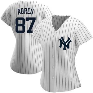 Women's New York Yankees Albert Abreu Replica White Home Name Jersey