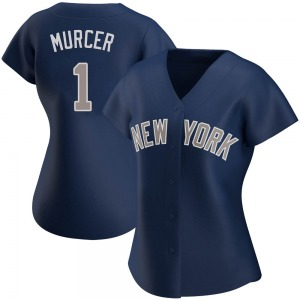 Women's New York Yankees Bobby Murcer Authentic Navy Alternate Jersey