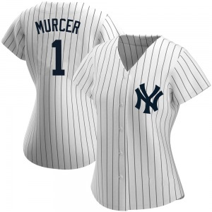 Women's New York Yankees Bobby Murcer Authentic White Home Name Jersey