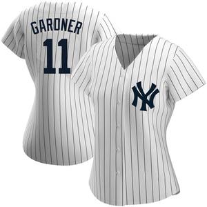 Women's New York Yankees Brett Gardner Replica White Home Name Jersey