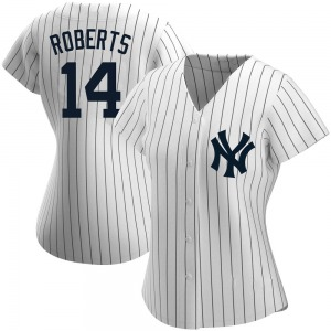 Women's New York Yankees Brian Roberts Authentic White Home Name Jersey