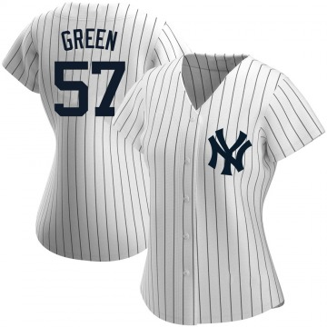Women's New York Yankees Chad Green Replica White Home Name Jersey