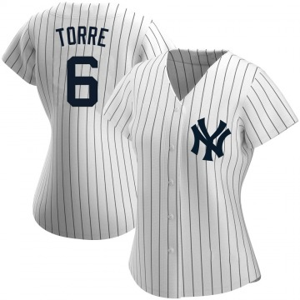 Women's New York Yankees Joe Torre Replica White Home Name Jersey