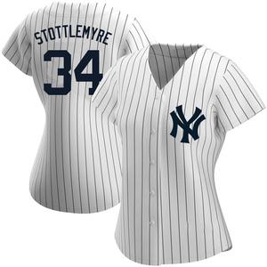 Women's New York Yankees Mel Stottlemyre Replica White Home Name Jersey