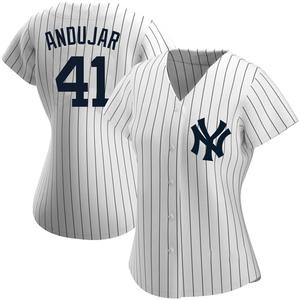 Women's New York Yankees Miguel Andujar Replica White Home Name Jersey