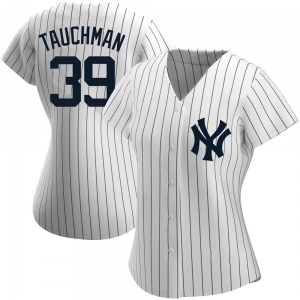 Women's New York Yankees Mike Tauchman Authentic White Home Name Jersey