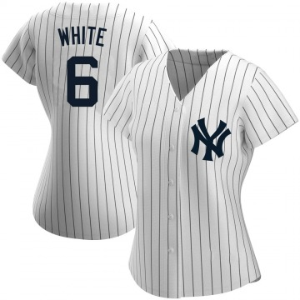 Women's New York Yankees Roy White Replica White Home Name Jersey