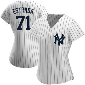 Women's New York Yankees Thairo Estrada Authentic White Home Name Jersey