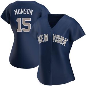 Women's New York Yankees Thurman Munson Authentic Navy Alternate Jersey