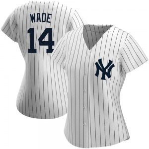 Women's New York Yankees Tyler Wade Authentic White Home Name Jersey